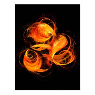Fireball Abstract Art Postcard