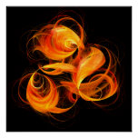 Fireball Abstract Art Print