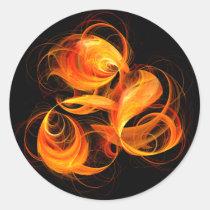 fireball, abstract, art, round, sticker, Sticker with custom graphic design