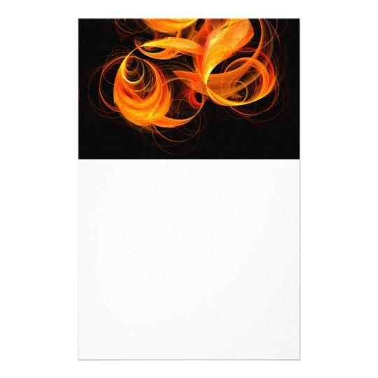 Fireball Abstract Art Stationery