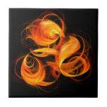 Fireball Abstract Art Tile