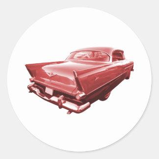 Fireball fury 1956 Plymouth tail fins Classic Round Sticker