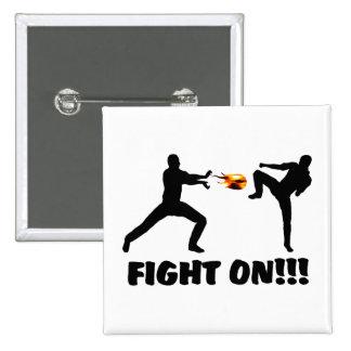 Fireball Gamer Fight On Pinback Buttons
