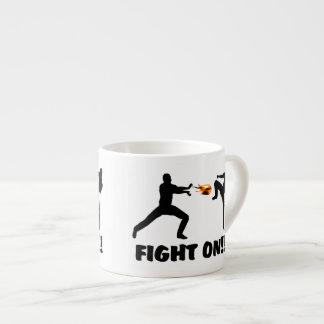 Fireball Gamer Fight On Espresso Cup