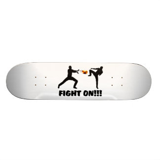 Fireball Gamer Fight On Skateboard Deck
