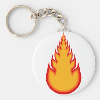 Fireball Graphics Fire Ball Flames Keychains