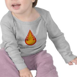 Fireball Graphics Fire Ball Flames T-shirts
