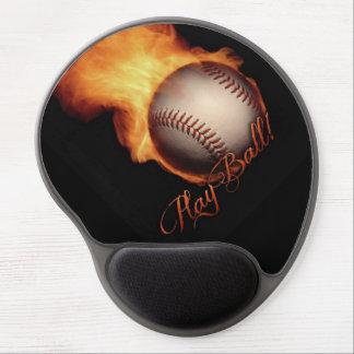 Fireball Pattern Baseball Lovers Gel Mouse Pad
