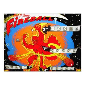 Fireball Pinball Photo Print