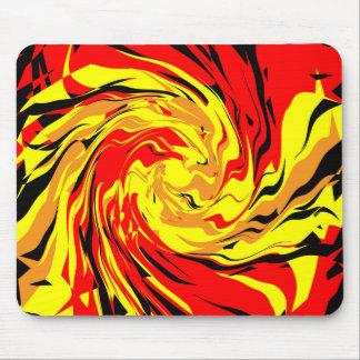 Fireball Spiral Mouse Pad
