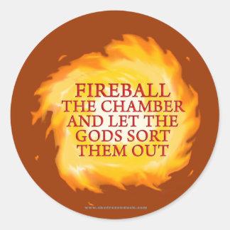 Fireball the Chamber Classic Round Sticker