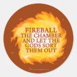 Fireball the Chamber Sticker