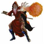 Fireball Wizard Sculpture Ornament