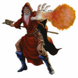 "Fireball Wizard Sculpture Ornament<br><div class=""desc"">Wizards, magicians, sorcerers, warlocks and practitioners of magic by other titles have appeared in myths, folktales and literature throughout recorded history, and fantasy draws on this background. Most wizards have powers arising from their study, possibly based on innate talent, rather than having their magical abilities occur entirely spontaneously, or be...</div>"