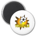 Fireballs soccer fridge magnet