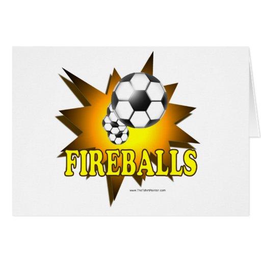 Fireballs soccer greeting card