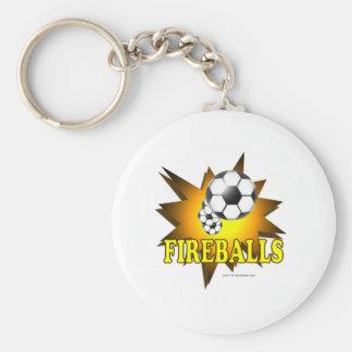 Fireballs soccer keychain