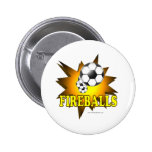Fireballs soccer pin