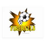 Fireballs soccer postcard