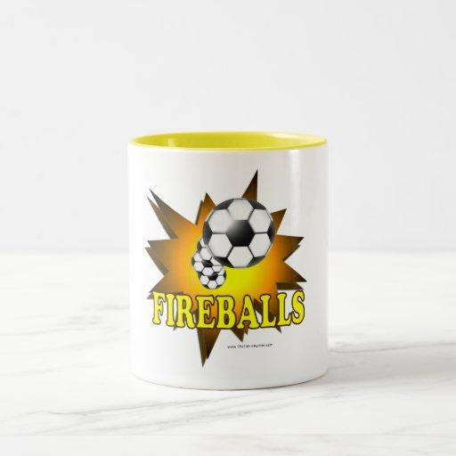 Fireballs soccer Two-Tone coffee mug