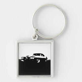Firebird, 1969 - Black on light Keychain