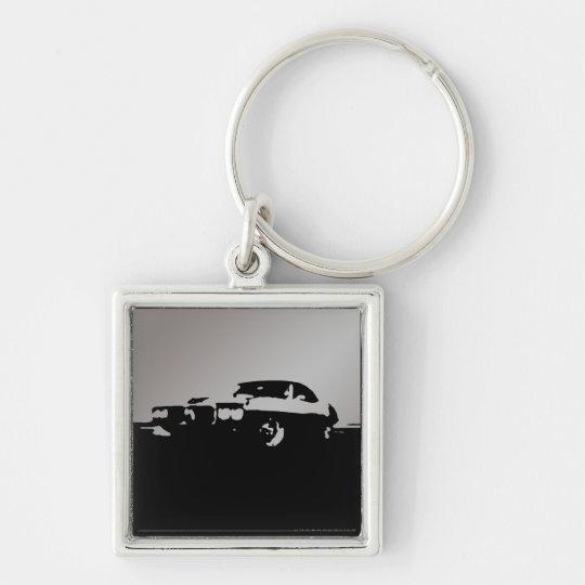 Firebird, 1969 - Silver on dark keychain
