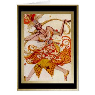 Firebird, Ballerina for Ballet Russes by Bakst Card