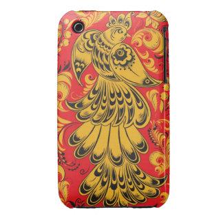 Firebird Khokhloma (Hohloma) Russian Ethnic Case-Mate iPhone 3 Case