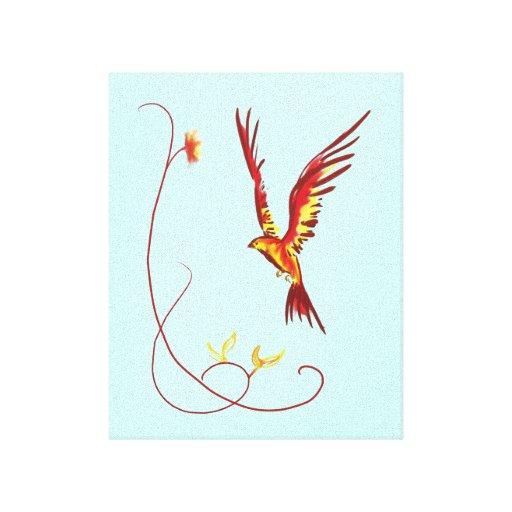 Firebird (Little Phoenix) Canvas Print