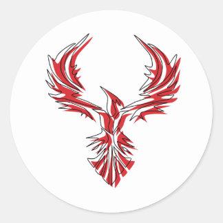 Firebird - Phoenix Classic Round Sticker