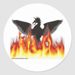 FireBird/Phoenix Pegatina Redonda