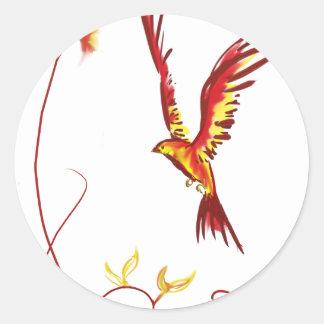 Firebird (poca Phoenix) Pegatina Redonda