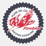 Firebird puro que compite con la muestra del etiquetas redondas