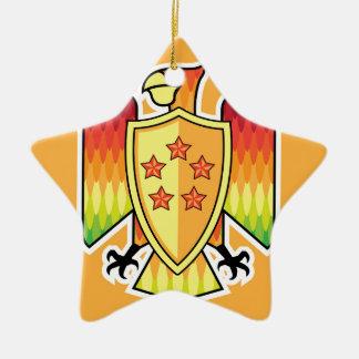 Firebird Shield logo vector Ceramic Ornament