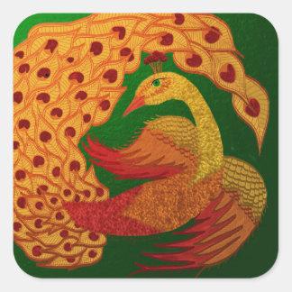 Firebird Square Sticker