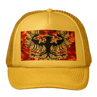 Firebird with Fire Background Base... - Customized Trucker Hat