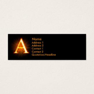 Fireblock Monogram - A Mini Business Card