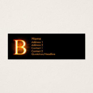 Fireblock Monogram - B Mini Business Card