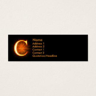 Fireblock Monogram - C Mini Business Card