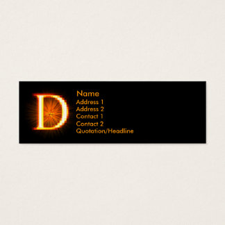 Fireblock Monogram - D Mini Business Card