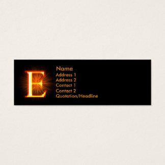 Fireblock Monogram - E Mini Business Card
