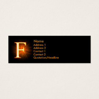 Fireblock Monogram - F Mini Business Card