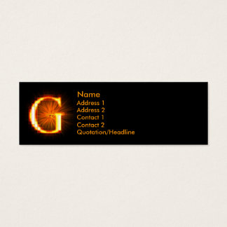 Fireblock Monogram - G Mini Business Card