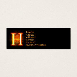 Fireblock Monogram - H Mini Business Card