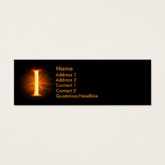 Fireblock Monogram - I Mini Business Card