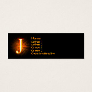 Fireblock Monogram - J Mini Business Card