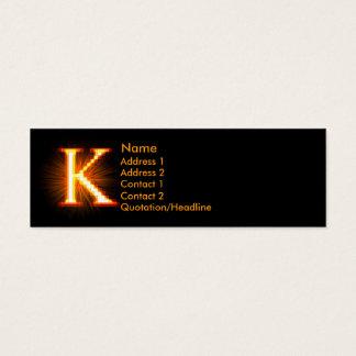 Fireblock Monogram - K Mini Business Card