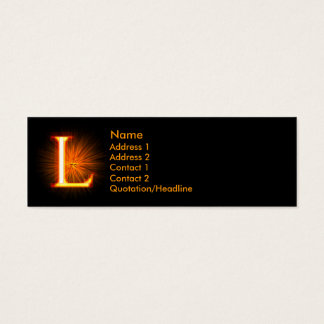 Fireblock Monogram - L Mini Business Card
