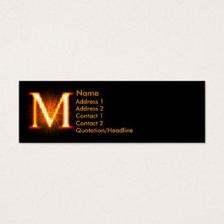 Fireblock Monogram - M Mini Business Card