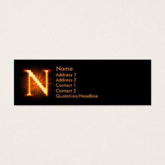 Fireblock Monogram - N Mini Business Card